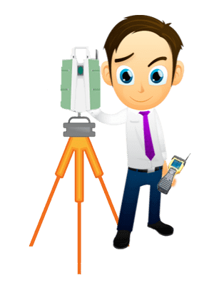 Surveyor with tripod