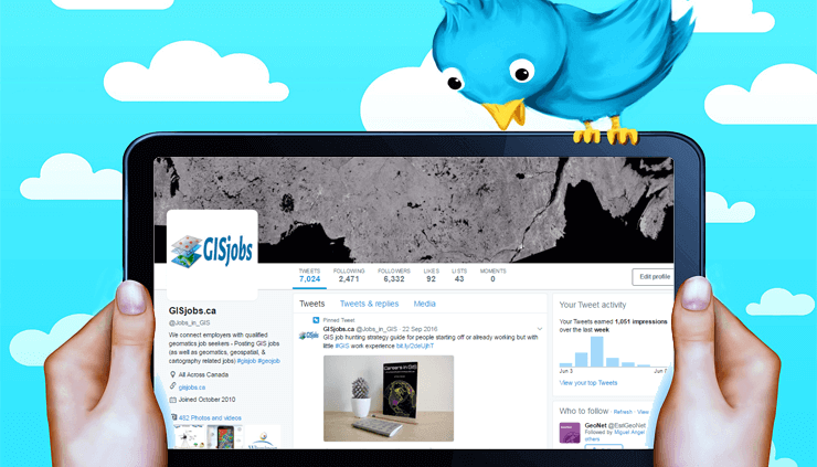 get GIS jobs on Twitter